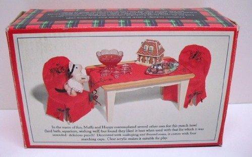 Grand Vanderball Punch Bowl and Cups (Muffy Vanderbear)