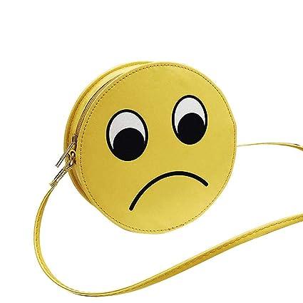 Wovemster Bolso mini bolso de mujer, lindo personaje de dibujos animados divertido Emoji Expression Pack