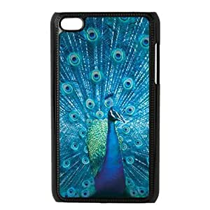 T-TGL(RQ) Ipod Touch 4 High-Quality Phone Case Peacock with Hard Shell Protection