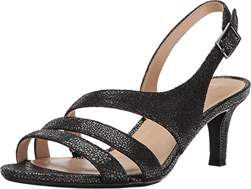 Naturalizer Women's Taimi Black Iridescent Pebbled Leather 9 M US