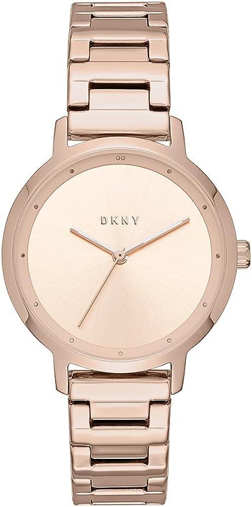 DKNY - Reloj de cuarzo para mujer de acero inoxidable