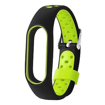 Correas xiaomi Band 2, ☀️ModaworldPulsera de TPE Ligera para Xiaomi Mi Band 2 Reemplazo de Pulsera Correa de Reloj Elegante Reemplazo de Repuesto (Verde): ...