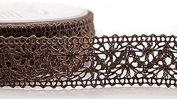 Spitzenband Bordeaux 5 m x 25 mm Spitze Baumwollspitze H/äkelband Spitzenborte Hochzeit Geschenkband Dekoband Schleifenband Landhaus Vintage Deko 2,06/€//m