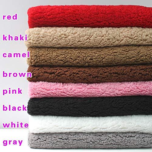 Pukido Ultra-soft Sherpa Fleece Lamb Fur Fabric Berber Fleece Fabric Faux Wool Lining Cloth Dolls 60