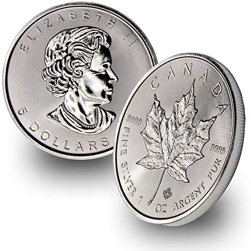 1988 - Present 1oz Silver Maple Leaf $5 Brilliant Uncirculated Random Year (Price Of 1 Oz Gold American Eagle)