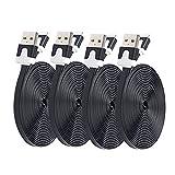 KILAMAX Lightning USB Cable 4Pcs 3ft 8 Pin Durable USB Flat Style Cable fits for iPhone 6 / 6 Plus / 5s / 5c / 5, iPad Air / Air 2, iPad mini / mini 2 / mini 3, iPod nano 7, and iPod touch5 3ft (black)