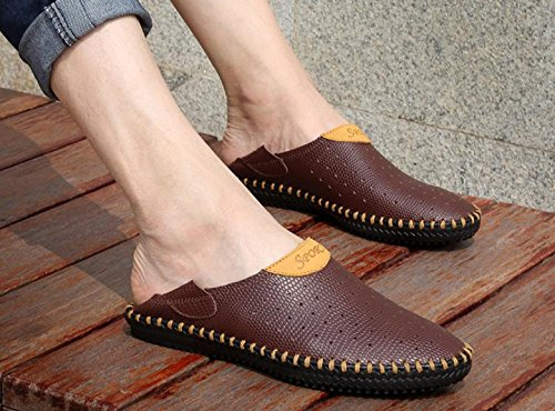 Zapatos de cuero de las sandalias de los zapatos huecos respirables del nuevo verano 2017 Zapatos 4