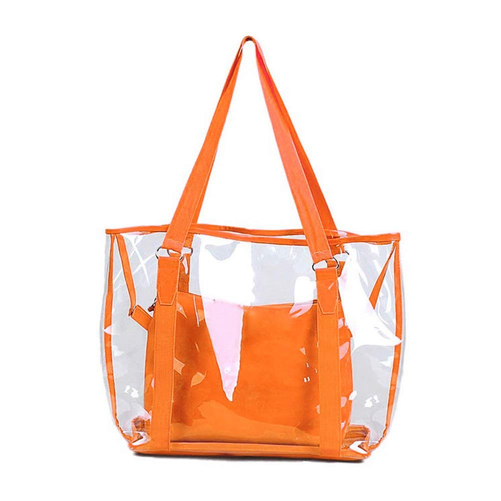 Amazon.com: Bolsos Carteras Mujer Fashion Women Jelly Candy Clear Transparent Handbag Tote Shoulder Bags Beach Bag Brand Balestra Color orange: Shoes