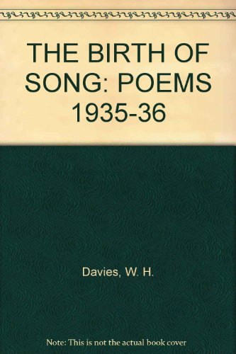 The Birth of Song: Poems, 1935-36