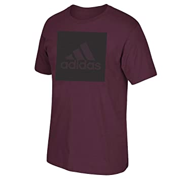 Adidas Adi Boxed Mesh Graphic  Men/'s Maroon T-Shirt