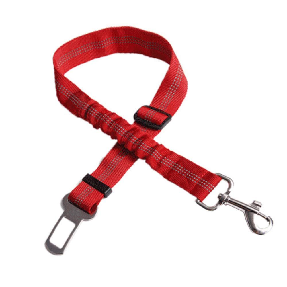 cintur/ón de Seguridad para Coche con Cuerda el/ástica de Nailon para Mascotas ghfashion Correa de Seguridad Ajustable y Duradera para Perro