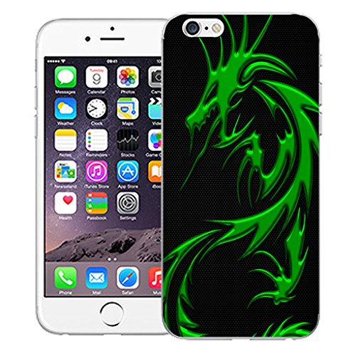 "Mobile Case Mate iPhone 6S 4.7"" Silicone Coque couverture case cover Pare-chocs + STYLET - Green Dragon pattern (SILICON)"