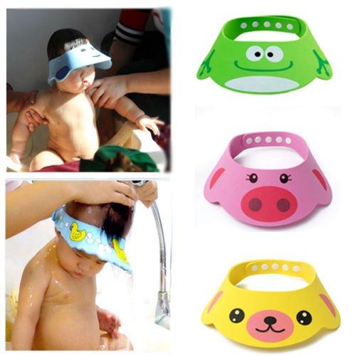teambuckle Adjustable Soft Baby Kid Safe Shampoo Bath Shower Cap Hat Wash Hair Eye Shield Z