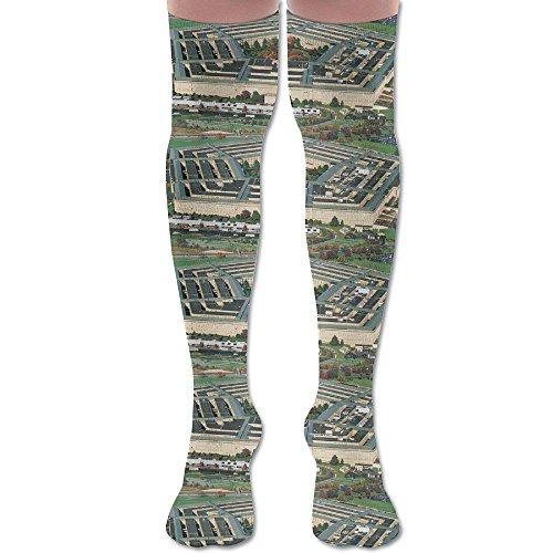 Cherry Unisex Stocking Park Cotton THE PENTAGON Knee-high Socks Casual Long Socks Fashion 60cm Football - Pentagon Center Fashion