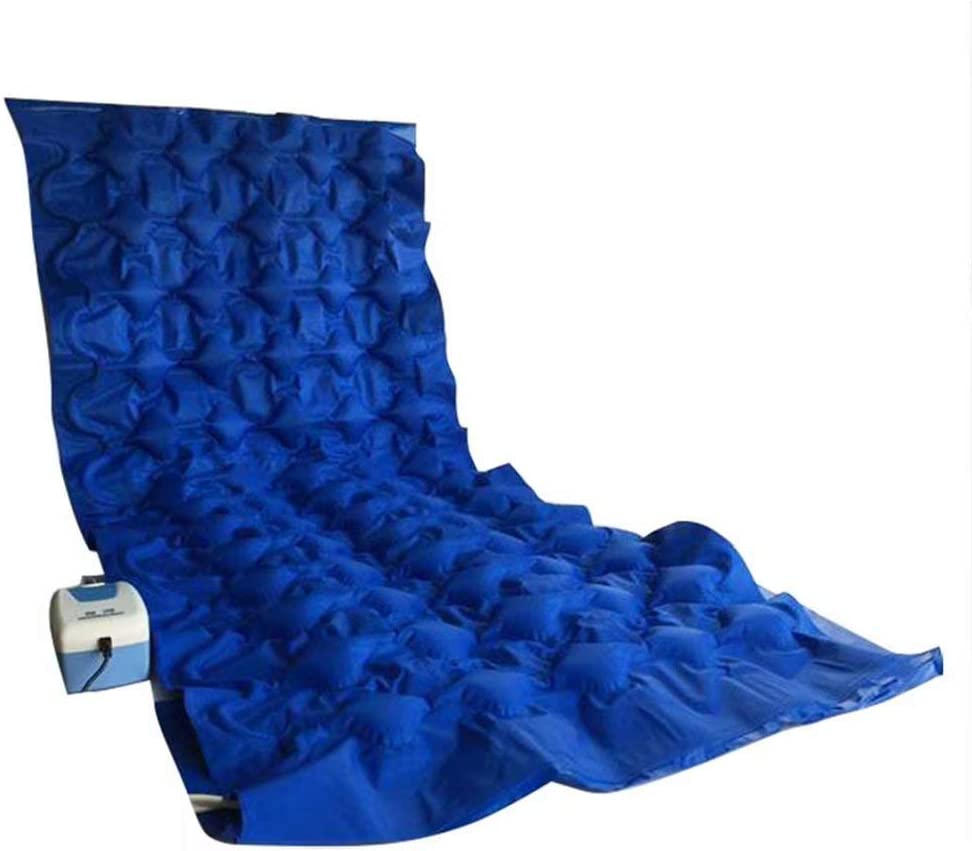 GG-Anti-decubitus cushion Colchón Inflable Colchón Hinchable Colchón de Aire Colchoneta antiescaras con Orificio Fluctuation Mattress Pad with Mute Pump Blue