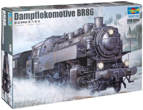 Trumpeter 1/35 WWII German BR86 Armored Steam Locomotive