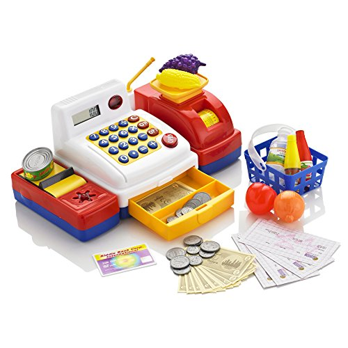 KiddyPlay Deluxe Electronic Cash Register Set - Childrens