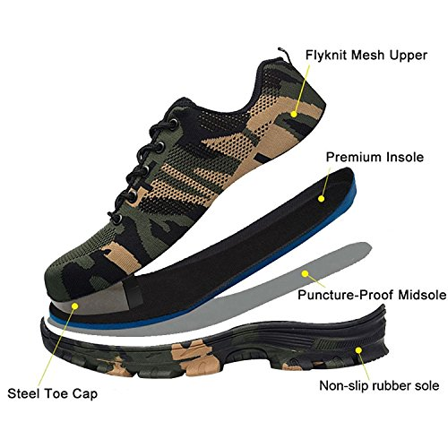 Hombre Comodas Zapatillas Para Trabajo Ligeras Coou Calzado S3 526 Style Green Seguridad De qzwxdCOI