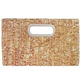 Cork Top Handle Clutch, SILVER