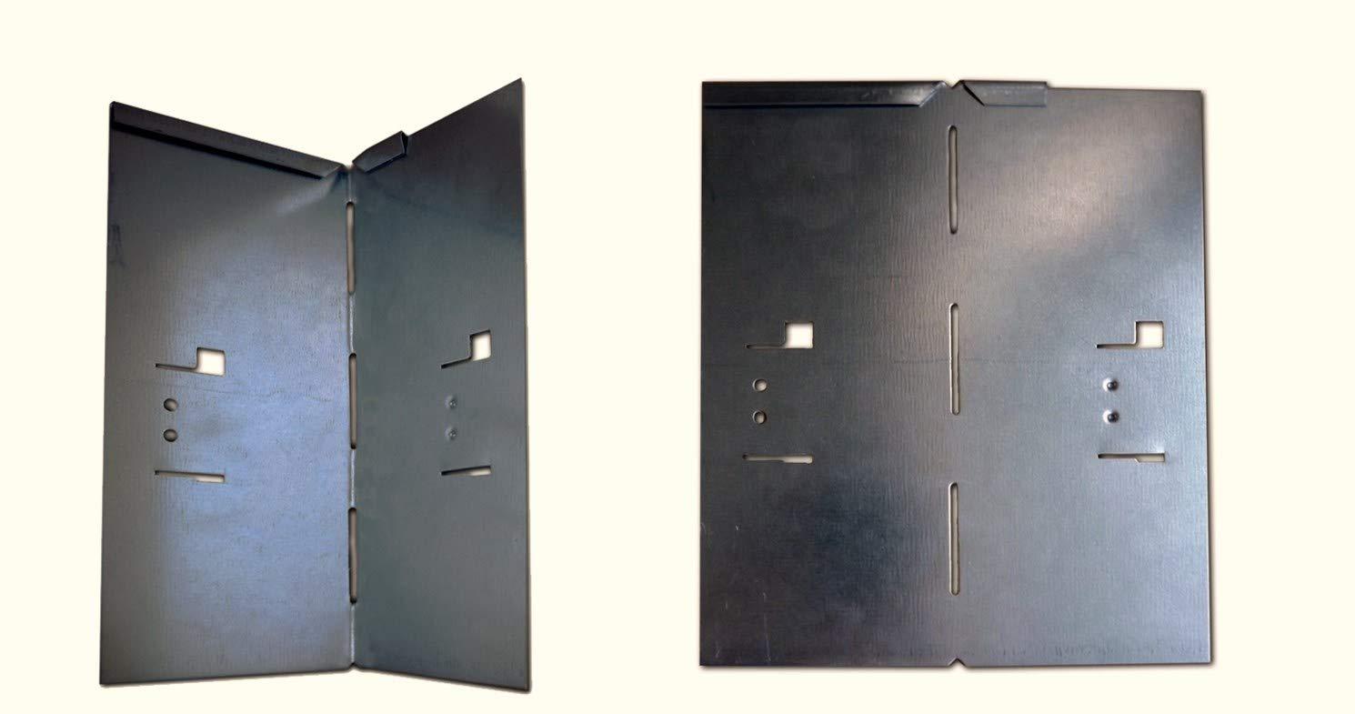 Esquinas para cercas de césped (metal, 8 x 8 x 18, 5 cm, 4 ...