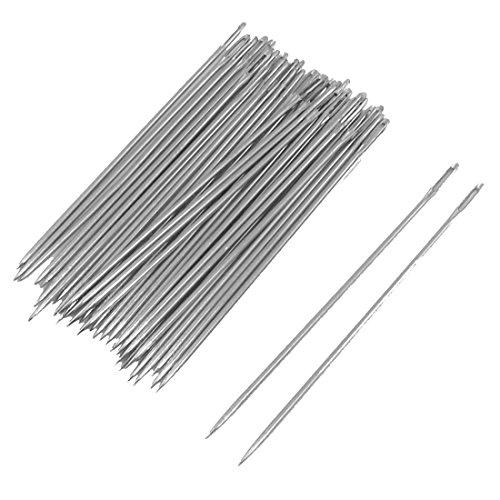 uxcell Metal Sharp Tip Sewing Needles 0.5mm Dia 40 Pcs