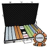 1000 Ct Monte Carlo Poker Club 14 gram Poker Chip Set Aluminum Case Custom Build