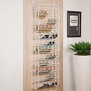 Hanging Shoe Rack Over the door 36 Pair Closet Space Saver Organizer Storage