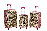 Rockland Luggage 3 Piece Leopard Upright Set, Pink Leopard, Medium Review