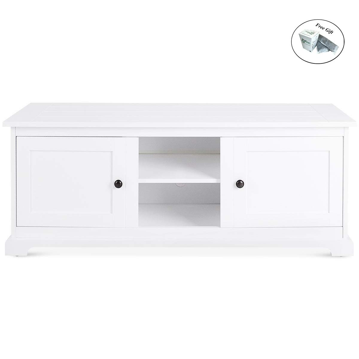 CWY Home Modern Media Unit Storage TV Cabinet Stand