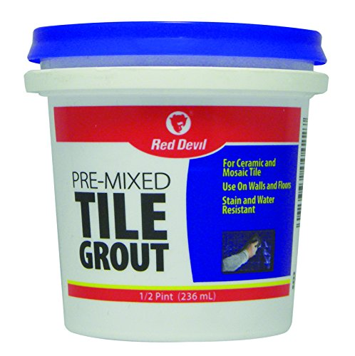 Red Devil 0422 Premixed Tile Grout, 1/2-Pint, White (Grout Premix)