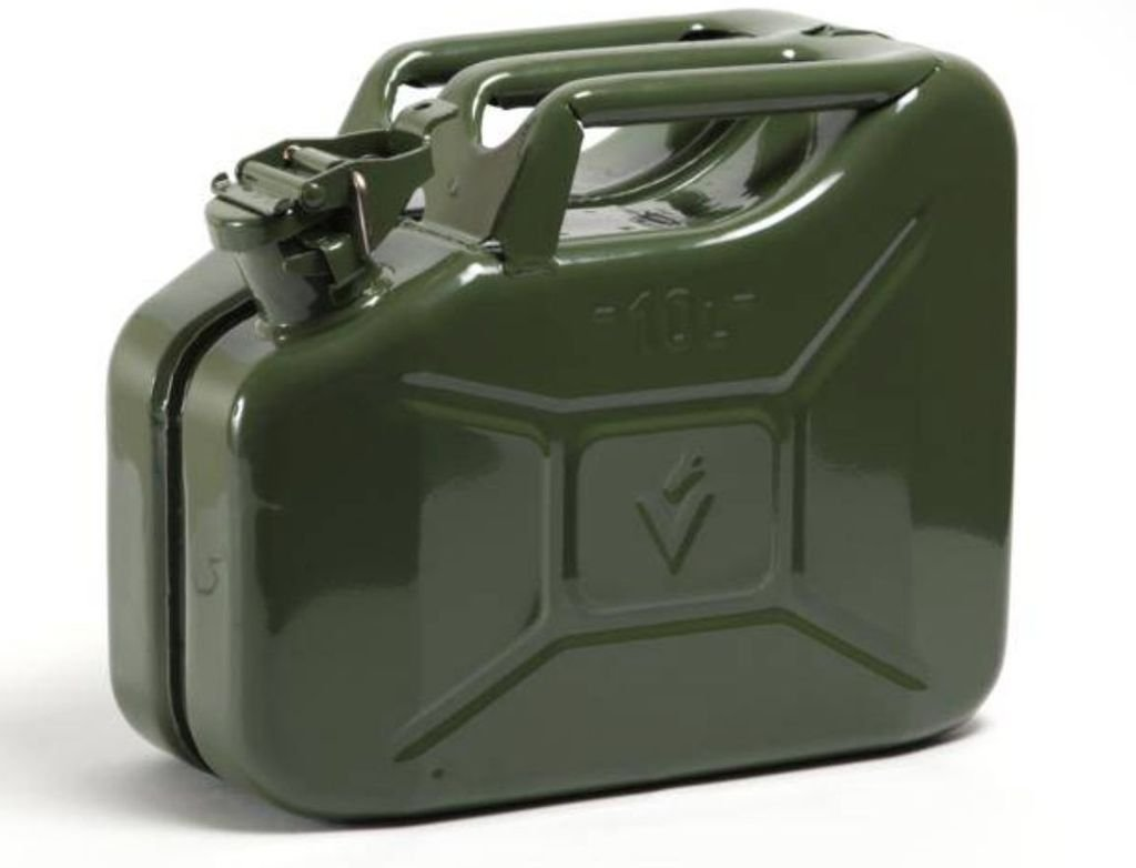 2 x NEW 10 LITRE GREEN JERRY MILITARY CAN FUEL OIL WATER PETROL DIESEL STORAGE TANK Wheels N Bits