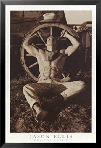 FRAMED Cowboy by Jason Ellis 24x36 Art Print Poster Photogra