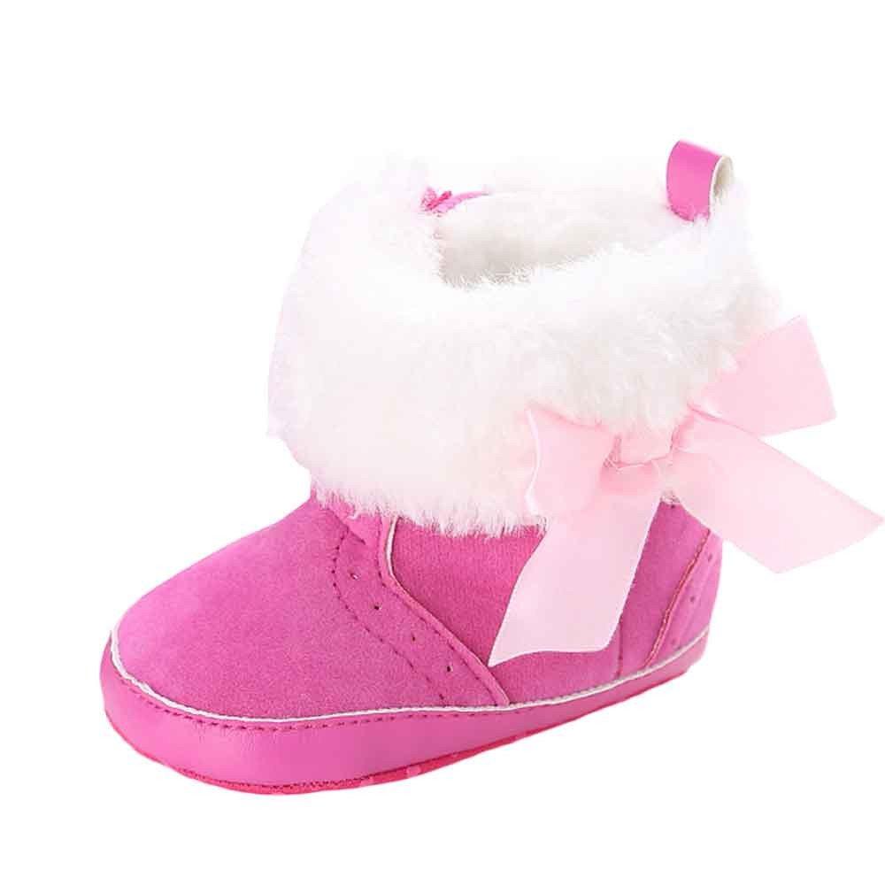YanHoo Zapatos para niños Baby Keep Warm Soft Sole Snow Boots Zapatos de Cuna Blanda Toddler Boots Zapatos de niños Lindos Botas de bebé Arco cálido Zapatos ...