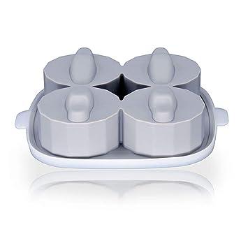 Cocodrilo 3D Silicona Piedra sepulcral Molde de hielo Cubo de hielo Bandeja de cubos de hielo Fabricante Bandeja de hielo Molde de la torta Para Kicthen ...