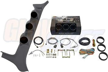 Full Size Black 52mm Triple A-Pillar Gauge Pod for 92-97 Ford F-Series F250 F350