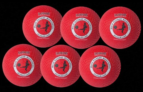 Mikasa WAKA Official Adult Rubber Kickball - Set of Six by Mikasa Sports