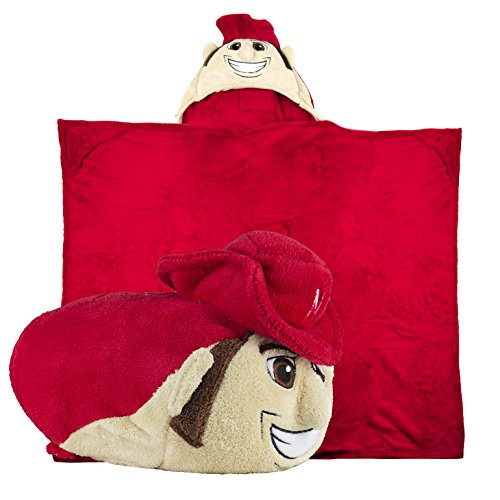 Comfy Critters Stuffed Animal Blanket - College Mascot, University of Nebraska 'Herbie Husker' - Kids Huggable Pillow and Blanket Perfect for The Big Game, Tailgating, Pretend Play, and Much -