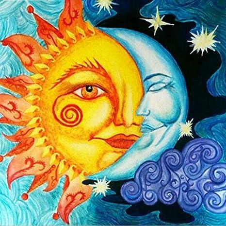zhangshifa 5D DIY Pintura Diamante Sol Y Luna Pintura ...