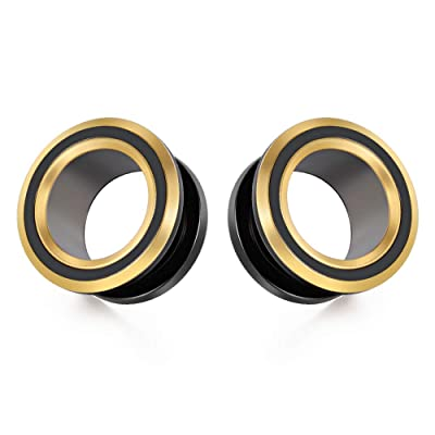 choose your color! PAIR Surgical Steel Screw Fit Tunnels Plugs Gauges Earlets