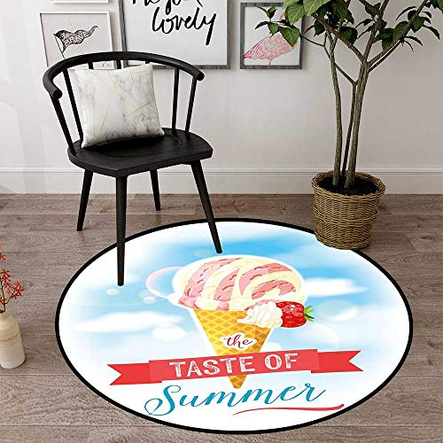 Circularity mat for Kitchen Round Indoor Floor mat Entrance Circle Floor mat for Office Chair Wood Floor Circle Floor mat Office Round mat for Living Room Pattern 1'8