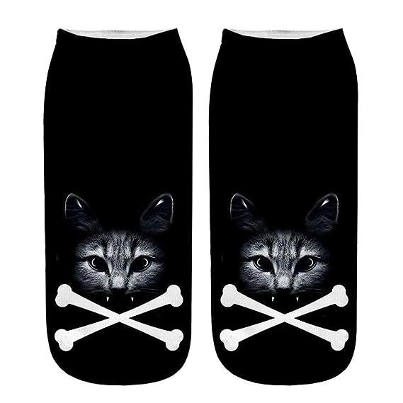 Sylar Calcetines Cortos Para Unisex Moda 3D Gato Impresión Divertidos Populares Tobilleras Calcetines Cálido Suave Deportivo Casual Calcetines: Amazon.es: ...