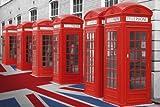 London Phone Boxes Art Print Poster - 24x36