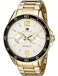 Tommy Hilfiger Mens Sophisticated Sport Quartz Resin and Stainless-Steel Casual Watch, Color:Gold-Toned (Model...