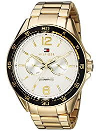Tommy Hilfiger Men's 'Sophisticated Sport' Quartz Resin and Stainless-Steel Casual Watch, Color:Gold-Toned (Model: 1791365)