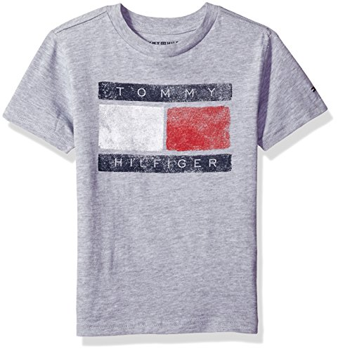 37ee7b64 Tommy Hilfiger Little Boys' Short Sleeve Tommy Flag Tee, Flag Grey, Large/6  - Buy Online in Oman. | Apparel Products in Oman - See Prices, Reviews and  Free ...