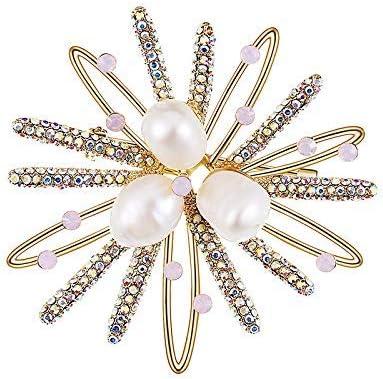 CHUNSHENN 女性の象眼細工の真珠の海Urchinのブローチ、ファッションアクセサリー、ブートニア付きディナー ブローチ 高級感 レディース