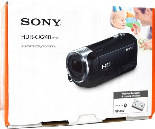 Sony HDR-CX240/B 9.2 Megapixels Full HD Handycam Camcorder -