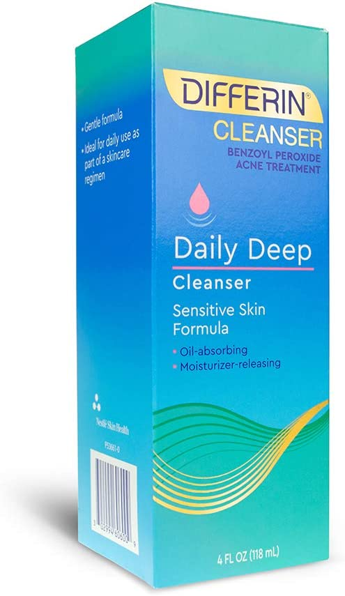Amazon Com Facial Cleanser By Differin Acne Face Wash W Benzoyl