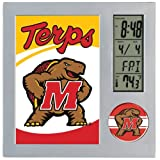 NCAA University of Maryland Desk Clock, Black