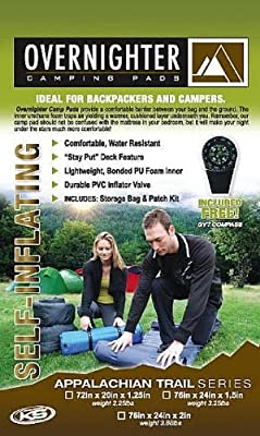 California Board Company 7220 Self Inflating CAMP PAD W/PILLOW(DARK GREEN)